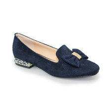 Lunar Navy Jewel Detail Loafer