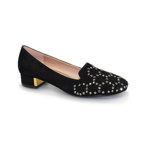 Lunar Diamante Black Slip On Loafers