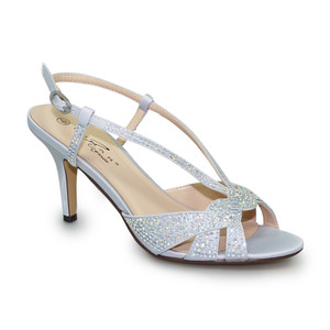 Lunar Lower Heel Diamante Detail Sandal