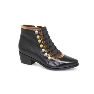 Lunar Napoleon Black Ankle Boot