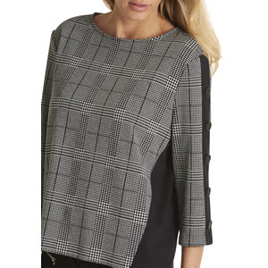 Betty Barclay Black & White Check Sweatshirt