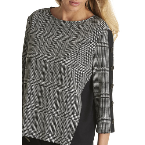 Betty Barclay Black & White Check Sweatshirt