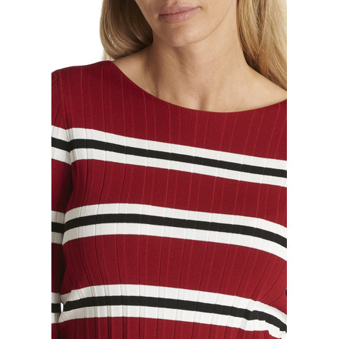 Betty Barclay Red Chili Knit jumper With Strips