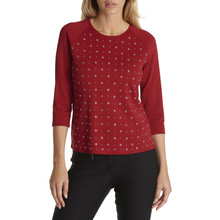 Betty Barclay Red Chili Casual T-shirt With studs