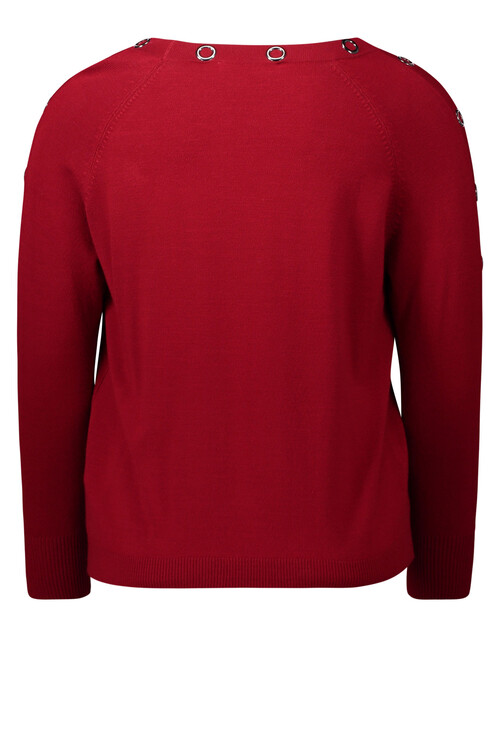 Betty Barclay Red Chili Fine knit jumper With studs