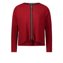 Betty Barclay Chili Red Casual cardigan With a zip