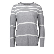 Betty Barclay Grey & White Strip Knit
