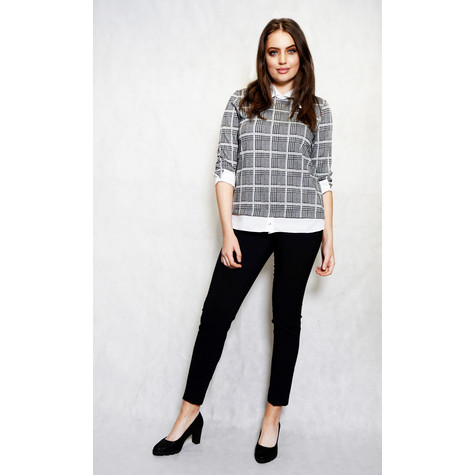 Zapara Grey Check 2 in 1 Top