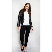 SophieB Black Crop Biker Jacket