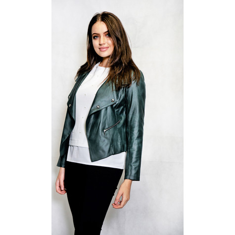 SophieB Black Crop Biker Jacket