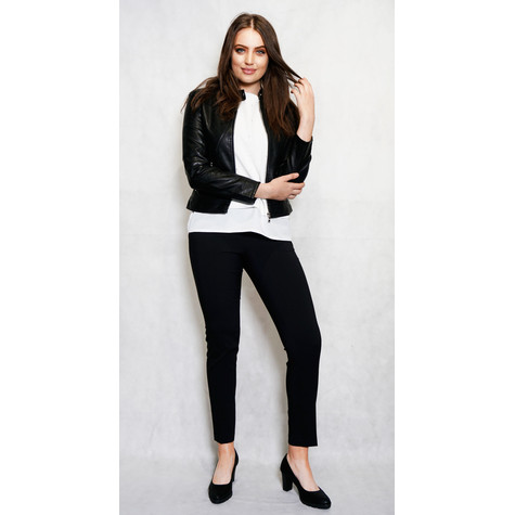 Ever Bloom Black Slim Biker Jacket