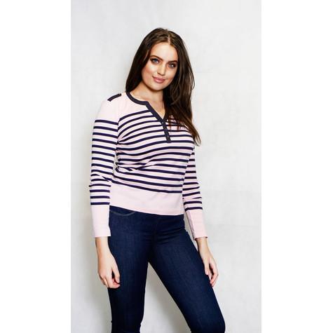 Twist Light Pink & Grey Strip Top