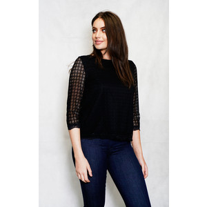 Zapara Black Layered Lace Top