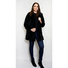 SophieB Faux-Fur Black Winter Coat