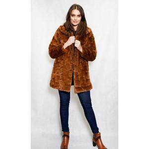 SophieB Fun-Fur Brown Winter Coat