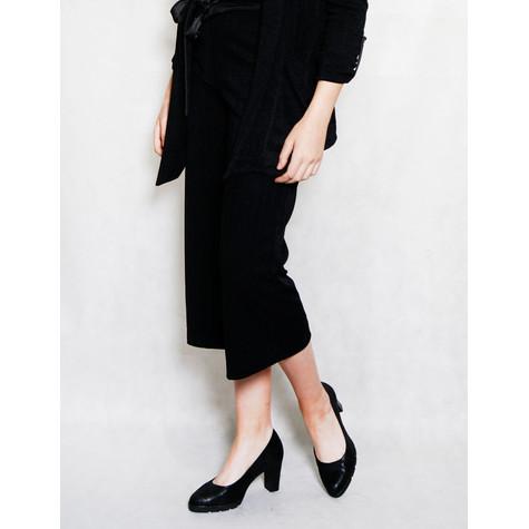 SophieB Black Fine Rib Culotte Trousers