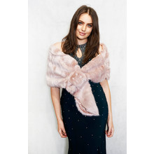 Pamela Scott Pink Faux Fur Shrug