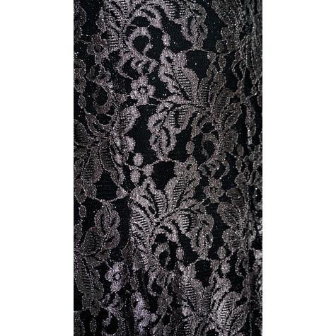Midnight Way Black & Taupe Lace Halterneck Long Dress