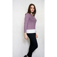 SophieB Lilac Pearl Detail Round Top