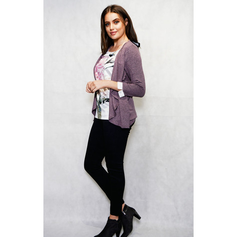 SophieB Lilac Flower Print 2 in 1 Knit
