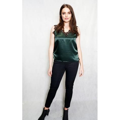 Maraislise Green Lace Trim Top