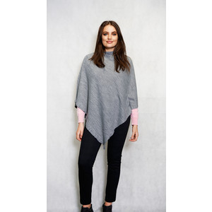 Twist Grey Round Neck Asymmetrical Knit