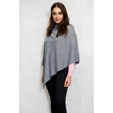 Twist Grey Round Neck Asymmetrical Knit