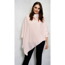 Twist Soft Rose Round Neck Asymmetrical Knit
