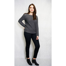 Twist Grey Fine Rib Knit