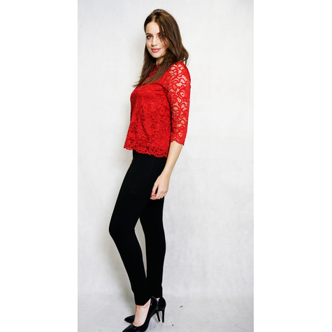 Zapara Brodeaux Lace Long Sleeve Top