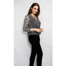 SophieB Leopard Print Loose Sweetheart Top