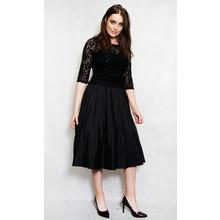 Jessica Howard Black Diamante Lace Satin Dress