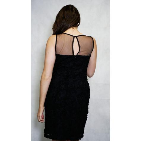 Scarlett Black Chiffon Flower Detail Dress