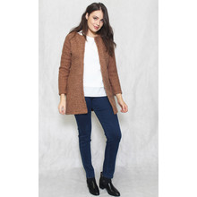 SophieB Brown Ruffle Long Open Jacket