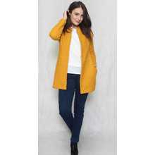 SophieB Mustard Ruffle Long Open Jacket