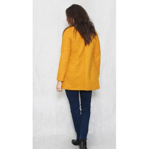 SophieB Mustard Ruffle Long Open Jacket