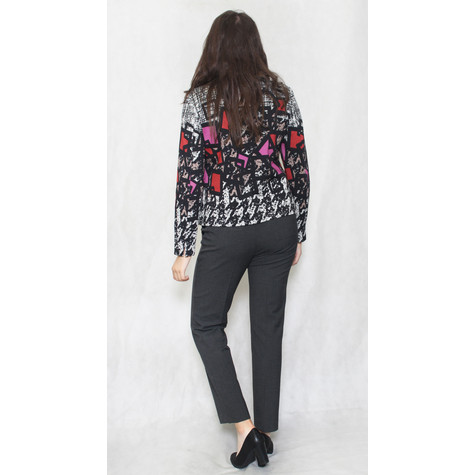 EFRO Red & Grey Multi Print Jacket