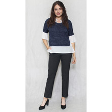 SophieB Navy & White 2 in 1 Knit