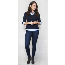 Twist Navy & Blue 2 in 1 Knit