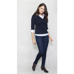 Twist Navy & White Pattern 2 in 1 Knit