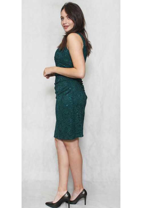 Scarlett Hunter Green Lace Floral Dress