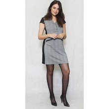 SophieB Grey & Black Check Side Panel Dress