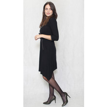 SophieB Black Fine Rib Zip Detail Dress