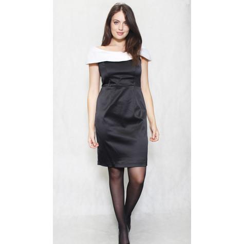 Scarlett Ivory & Black Bardot Style Dress