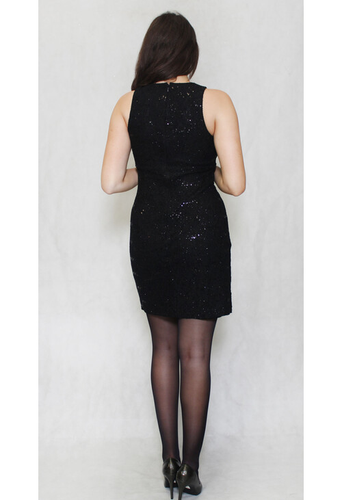 R and M Richard Black Short Lace Dress