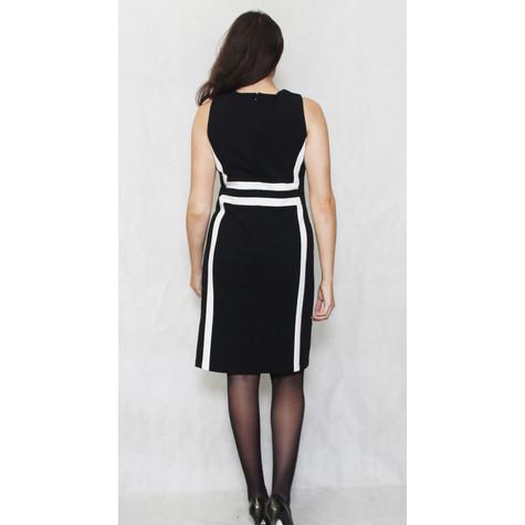 Ronni Nicole Black & White Strip Sleeveless Pencil Dress