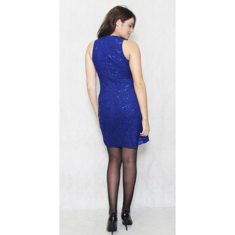 R and M Richard Royal Blue Short Lace Dress