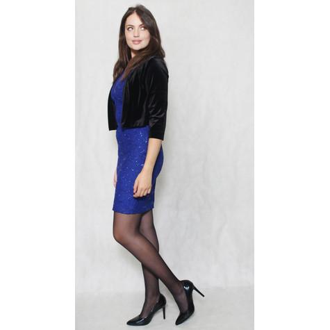 Ronni Nicole Black Velour Short Jacket