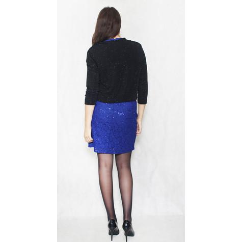 Ronni Nicole Black Glitter Short Crop Jacket