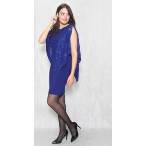 Scarlett Royal Chiffon Cape Lace Dress